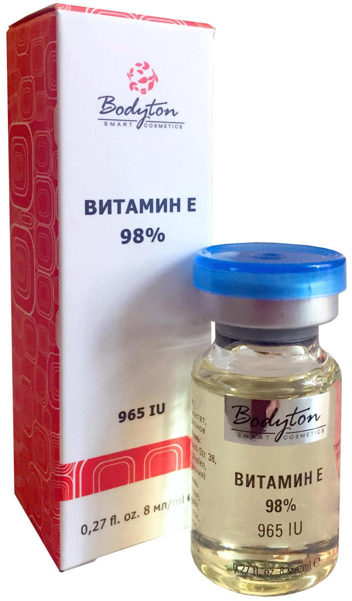 Bodyton Сыворотка витамин Е, 8 мл2719995Свойства сыворотки: витамин Е активно защищает кожу, препятствуя её старению и нейтрализует вредные свободные радикалы. Эффективно применяется в солнцезащитных средствах. Поддерживает синтез коллагена и эластина, укрепляет стенки сосудов и улучшает микроциркуляцию крови, разглаживает мелкие морщинки, стимулирует выведение из клеток кожи токсинов. Способствует регенерации кожи, также улучшает состояние ногтей и волос. Отличное средство против высыпаний и пигментации. Способствует быстрому заживлению повреждений на коже. Обладает лифтинг-эффектом, делая кожу упругой.