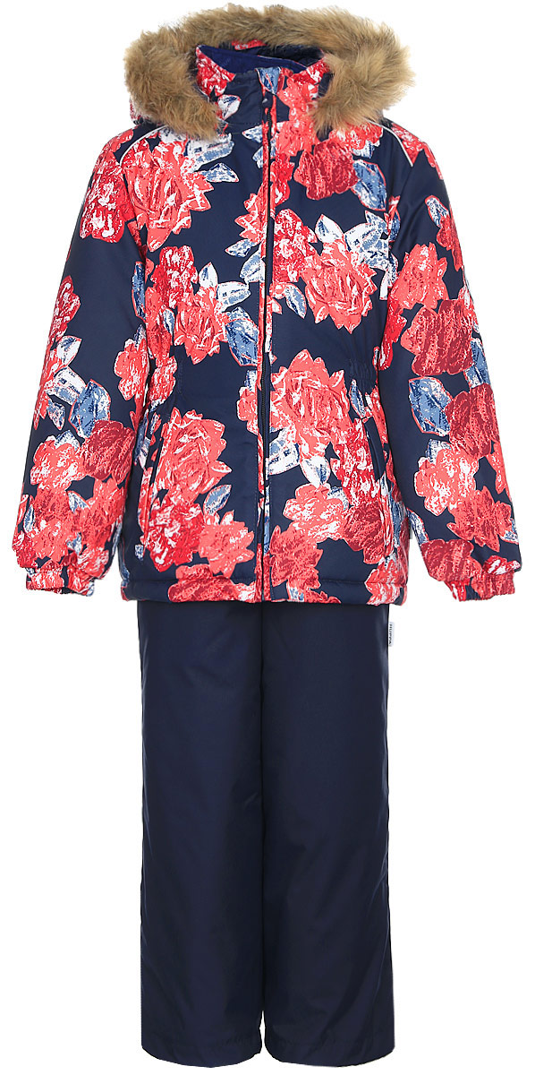 Комплект одежды для девочки Huppa Wonder: куртка, полукомбинезон, цвет: темно-синий. 41950030-71586. Размер 12241950030-71586Комплект одежды Huppa Wonder состоит из куртки и полукомбинезона. Куртка оснащена ветрозащитной планкой по всей длине молнии с защитой подбородка и безопасным съемным капюшоном. Полукомбинезон очень практичен: хорошо закрывает грудку и спинку ребенка. Вечерние прогулки в этом костюме будут не только приятными, но и безопасными благодаря светоотражающим элементам на куртке и полукомбинезоне.