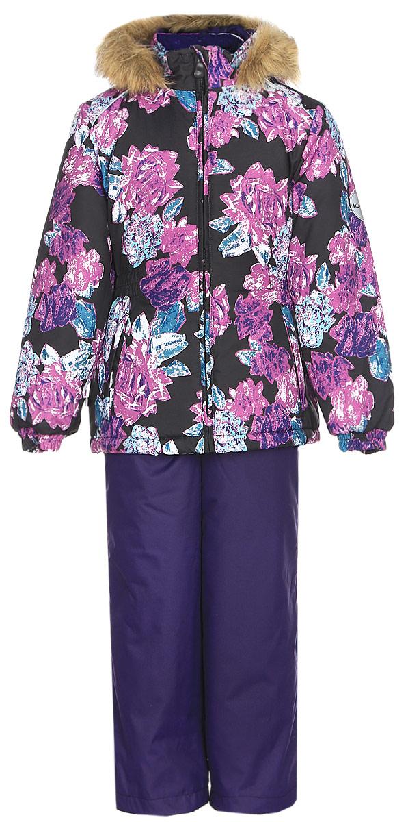 Комплект одежды для девочки Huppa Wonder: куртка, полукомбинезон, цвет: черный, темно-лилoвый. 41950030-71509. Размер 13441950030-71509Комплект одежды Huppa Wonder состоит из куртки и полукомбинезона. Куртка оснащена ветрозащитной планкой по всей длине молнии с защитой подбородка и безопасным съемным капюшоном. Полукомбинезон очень практичен: хорошо закрывает грудку и спинку ребенка. Вечерние прогулки в этом костюме будут не только приятными, но и безопасными благодаря светоотражающим элементам на куртке и полукомбинезоне.
