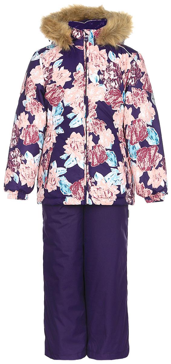 Комплект одежды для девочки Huppa Wonde: куртка, полукомбинезон, цвет: темно-лилoвый. 41950030-71573. Размер 12841950030-71573Комплект одежды Huppa Wonder состоит из куртки и полукомбинезона. Куртка оснащена ветрозащитной планкой по всей длине молнии с защитой подбородка и безопасным съемным капюшоном. Полукомбинезон очень практичен: хорошо закрывает грудку и спинку ребенка. Вечерние прогулки в этом костюме будут не только приятными, но и безопасными благодаря светоотражающим элементам на куртке и полукомбинезоне.
