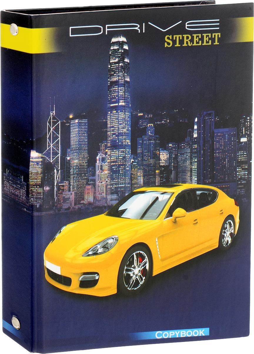 Фото Феникс+ Тетрадь на кольцах Желтое авто 160 листов в клетку