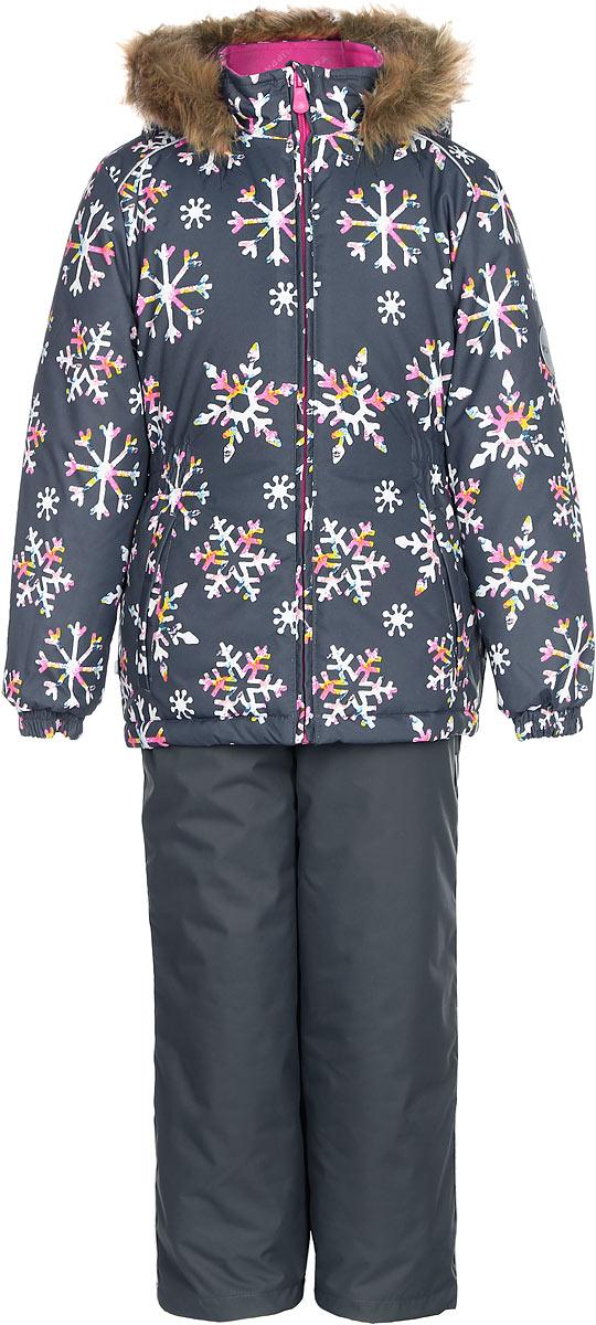 Комплект одежды для девочки Huppa Wonder: куртка, полукомбинезон, цвет: серый. 41950030-71648. Размер 13441950030-71648Комплект одежды Huppa Wonder состоит из куртки и полукомбинезона. Куртка оснащена ветрозащитной планкой по всей длине молнии с защитой подбородка и безопасным съемным капюшоном. Полукомбинезон очень практичен: хорошо закрывает грудку и спинку ребенка. Вечерние прогулки в этом костюме будут не только приятными, но и безопасными благодаря светоотражающим элементам на куртке и полукомбинезоне.