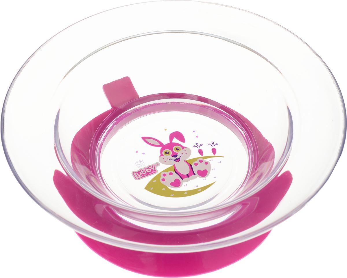 Lubby Тарелка с присоской Русские мотивы от 6 месяцев цвет фуксия13652_фуксияТарелка на присоске Lubby Русские мотивы для кормления незаменима в период, когда ваш малыш учится есть самостоятельно. Тарелочка не скользит по столу благодаря присоске, она надежно фиксирует положение тарелки на столе или любой другой гладкой поверхности. При необходимости тарелка легко снимается взрослым. Благодаря высоким бортикам, пища дольше остается теплой.Яркий дизайн тарелочки превратит процесс кормления в увлекательную игру.Перед первым использованием и после каждого применения мойте изделия в теплой воде с мылом, отделив все части тарелки. Можно мыть в посудомоечной машине (предварительно сняв присоску).