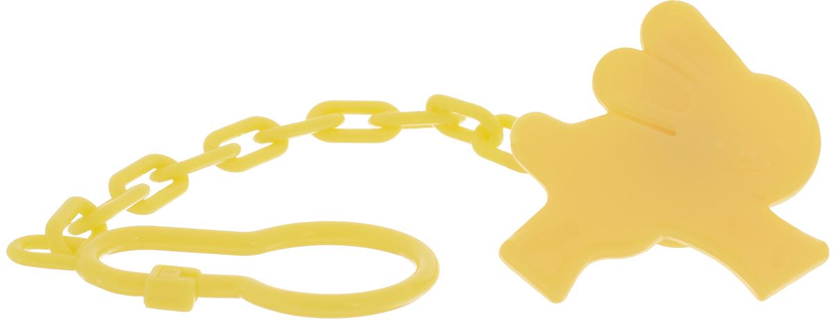 Lubby Клипса для соски-пустышки Just Lubby Зайка от 0 месяцевцвет желтый