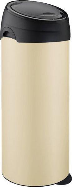 Мусорный бак Meliconi, цвет: кремовый, 40 л3894Вместительный и практичный бак для мусора Meliconi изготовлен из высококачественной стали с защитой от отпечатков пальцев. Благодаря уникальной конструкции использование этого бака для мусора в домашних или офисных целях становится невероятно удобным и легким. Специальная крышка с удобным механизмом открывается и закрывается движением одной руки без соприкосновения с содержимым бака. В комплекте имеется сменный механизм, который можно легко заменить самостоятельно, это продлит срок службы вашего бака на десятки лет. Уникальный механизм удаления мусора настолько прост и удобен, что вызывает восторг. Сняв крышку и фиксатор сменного мешка, затяните ленты наполненного мусорного мешка, прижмите ушко в нижней части бака ногой, снимите облегченный корпус бака, - закрытый мешок с мусором остался на нижней крышке! Не нужно больше поднимать тяжелый мешок с мусором, не нужно прилагать усилий, чтобы достать его из тубы бака, Вы не испачкаете руки или одежду! Мешок не повредиться, а мусор будет в отведенном ему месте, а не у вас на полу!