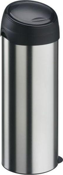 Мусорный бак Meliconi, цвет: матовый стальной, 40 л3903Вместительный и практичный бак для мусора Meliconi, изготовленный из высококачественной матовой стали с защитой от отпечатков пальцев. Благодаря уникальной конструкции использование этого бака для мусора в домашних или офисных целях становится невероятно удобным и легким. Специальная крышка с удобным механизмом открывается и закрывается движением одной руки без соприкосновения с содержимым бака. В комплекте имеется сменный механизм, который можно легко заменить самостоятельно, это продлит срок службы вашего бака на десятки лет. Уникальный механизм удаления мусора настолько прост и удобен, что вызывает восторг. Сняв крышку и фиксатор сменного мешка, затяните ленты наполненного мусорного мешка, прижмите ушко в нижней части бака ногой, снимите облегченный корпус бака, - закрытый мешок с мусором остался на нижней крышке! Не нужно больше поднимать тяжелый мешок с мусором, не нужно прилагать усилий, чтобы достать его из тубы бака, Вы не испачкаете руки или одежду! Мешок не повредиться, а мусор будет в отведенном ему месте, а не у Вас на полу!