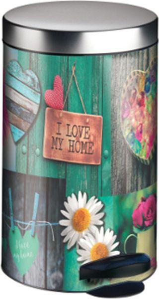Мусорное ведро Meliconi Мой дом, цвет: зеленый, объем 14 л5669Ведро для мусора Meliconi вместительностью 14 литров отличается практичностью в использовании и простотой в уходе. Прекрасно подойдет для ванной комнаты, туалета или кухни. Изготовлено из высококачественной матовой стали. Благодаря использованию качественных и прочным материалов туба ведра и крышка при нажатии не проминаются и не выгибаются. Защитное покрытие предохраняет поверхность изделия от разводов и отпечатков пальцев. Ведро оснащено отдельным внутренним пластиковым ведерком, которое обеспечивает удобную очистку и вынос мусора. Благодаря точному механизму крышка ведра открывается легко и плавно при нажатии на педаль, закрывается бесшумно и плотно, исключая попадание запахов в помещение. Пластиковое основание не позволяет ведру скользить по полу, защищая напольное покрытие от царапин и других повреждений. Приятным дополнением является оригинальный дизайн, который позволит ведру идеально вписаться даже в самый необычный интерьер.