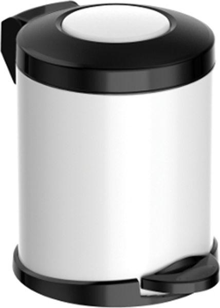 Мусорное ведро Meliconi Стиль, цвет: матовый белый, объем 5 л5670Ведро для мусора Meliconi вместительностью 5 литров отличается практичностью в использовании и простотой в уходе. Благодаря небольшим габаритам прекрасно подойдет для ванной комнаты, туалета или кухни. Изготовлено из высококачественной матовой стали. Благодаря использованию качественных и прочным материалов туба ведра и крышка при нажатии не проминаются и не выгибаются. Защитное покрытие предохраняет поверхность изделия от разводов и отпечатков пальцев. Ведро оснащено отдельным внутренним пластиковым ведерком, которое обеспечивает удобную очистку и вынос мусора. Благодаря точному механизму крышка ведра открывается легко и плавно при нажатии на педаль, закрывается бесшумно и плотно, исключая попадание запахов в помещение. Пластиковое основание не позволяет ведру скользить по полу, защищая напольное покрытие от царапин и других повреждений. Стильный и лаконичный дизайн позволит ведру вписаться в любой интерьер.