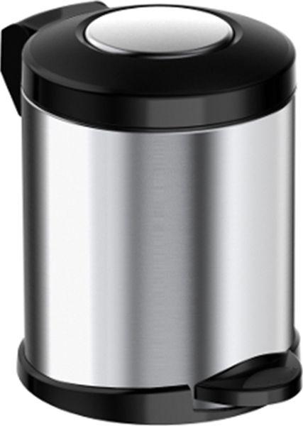 Мусорное ведро Meliconi Стиль, цвет: матовый стальной, 5 л5671Ведро для мусора Meliconi отличается практичностью в использовании и простотой в уходе. Благодаря небольшим габаритам прекрасно подойдет для ванной комнаты, туалета или кухни. Изготовлено из высококачественной матовой стали. Благодаря использованию качественных и прочным материалов туба ведра и крышка при нажатии не проминаются и не выгибаются. Защитое покрытие предохраняет поверхность изделия от разводов и отпечатков пальцев. Ведро оснащено отдельным внутренним пластиковым ведерком, которое обеспечивает удобную очистку и вынос мусора. Благодаря точному механизму крышка ведра открывается легко и плавно при нажатии на педаль, закрывается бесшумно и плотно, исключая попадание запахов в помещение. Пластиковое основание не позволяет ведру скользить по полу, защищая напольное покрытие от царапин и других повреждений. Стильный и лаконичный дизайн позволит ведру вписаться в любой интерьер.