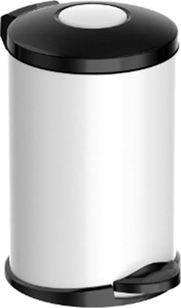 Мусорное ведро Meliconi Стиль, цвет: матовый белый, 14 л5674Ведро для мусора Meliconi отличается практичностью в использовании и простотой в уходе. Прекрасно подойдет для ванной комнаты, туалета или кухни. Изготовлено из высококачественной матовой стали. Благодаря использованию качественных и прочным материалов туба ведра и крышка при нажатии не проминаются и не выгибаются. Защитное покрытие предохраняет поверхность изделия от разводов и отпечатков пальцев. Ведро оснащено отдельным внутренним пластиковым ведерком, которое обеспечивает удобную очистку и вынос мусора. Благодаря точному механизму крышка ведра открывается легко и плавно при нажатии на педаль, закрывается бесшумно и плотно, исключая попадание запахов в помещение. Пластиковое основание не позволяет ведру скользить по полу, защищая напольное покрытие от царапин и других повреждений. Стильный и лаконичный дизайн позволит ведру вписаться в любой интерьер.