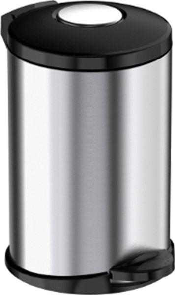 Мусорное ведро Meliconi Стиль, цвет: матовый стальной, объем 145675Ведро для мусора Meliconi вместительностью 14 литров отличается практичностью в использовании и простотой в уходе. Прекрасно подойдет для ванной комнаты, туалета или кухни. Изготовлено из высококачественной матовой стали. Благодаря использованию качественных и прочным материалов туба ведра и крышка при нажатии не проминаются и не выгибаются. Защитное покрытие предохраняет поверхность изделия от разводов и отпечатков пальцев. Ведро оснащено отдельным внутренним пластиковым ведерком, которое обеспечивает удобную очистку и вынос мусора. Благодаря точному механизму крышка ведра открывается легко и плавно при нажатии на педаль, закрывается бесшумно и плотно, исключая попадание запахов в помещение. Пластиковое основание не позволяет ведру скользить по полу, защищая напольное покрытие от царапин и других повреждений. Стильный и лаконичный дизайн позволит ведру вписаться в любой интерьер.