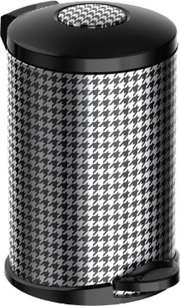 Мусорное ведро Meliconi Стиль Пье де Пуль, цвет: черный, стальной, 14 л5676Ведро для мусора Meliconi отличается практичностью в использовании и простотой в уходе. Прекрасно подойдет для ванной комнаты, туалета или кухни. Изготовлено из высококачественной матовой стали. Благодаря использованию качественных и прочным материалов туба ведра и крышка при нажатии не проминаются и не выгибаются. Защитное покрытие предохраняет поверхность изделия от разводов и отпечатков пальцев. Ведро оснащено отдельным внутренним пластиковым ведерком, которое обеспечивает удобную очистку и вынос мусора. Благодаря точному механизму крышка ведра открывается легко и плавно при нажатии на педаль, закрывается бесшумно и плотно, исключая попадание запахов в помещение. Пластиковое основание не позволяет ведру скользить по полу, защищая напольное покрытие от царапин и других повреждений. Стильный и лаконичный дизайн позволит ведру вписаться в любой интерьер.