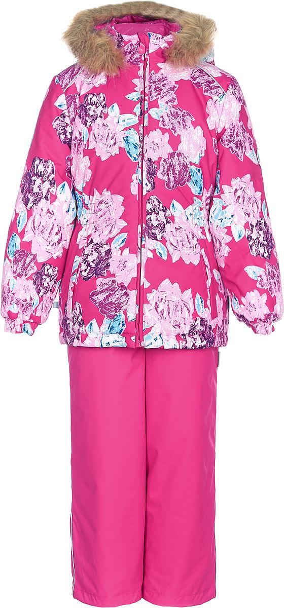 Комплект одежды для девочки Huppa Wonder: куртка, полукомбинезон, цвет: фуксия. 41950030-71563. Размер 11641950030-71563Комплект одежды Huppa Wonder состоит из куртки и полукомбинезона. Куртка оснащена ветрозащитной планкой по всей длине молнии с защитой подбородка и безопасным съемным капюшоном. Полукомбинезон очень практичен: хорошо закрывает грудку и спинку ребенка. Вечерние прогулки в этом костюме будут не только приятными, но и безопасными благодаря светоотражающим элементам на куртке и полукомбинезоне.