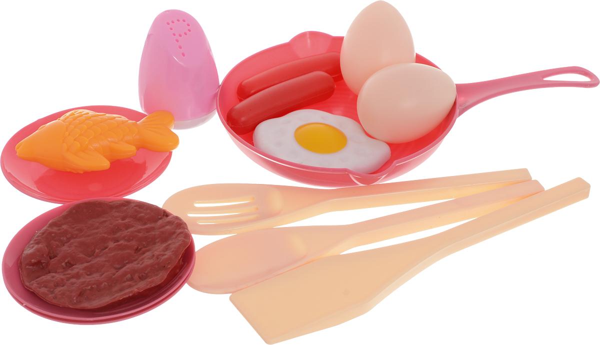 ABtoys Игровой набор Посуда и продукты 14 предметов посуда из пластика интернет магазин