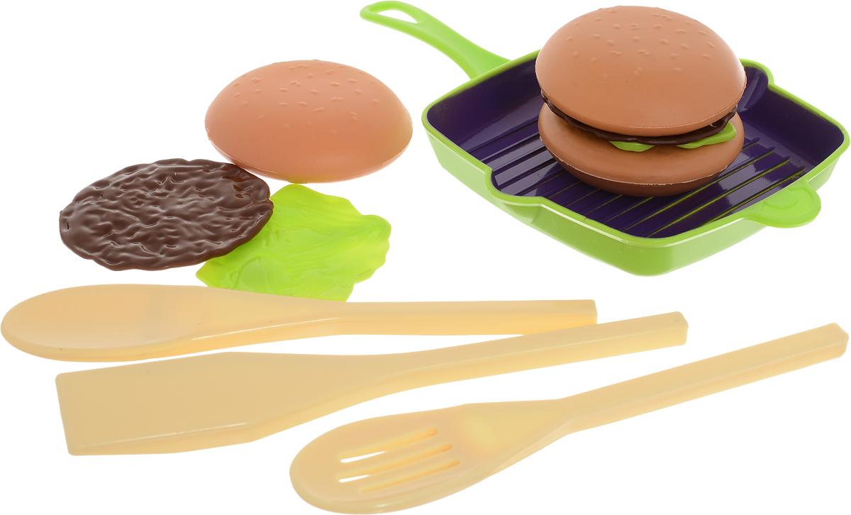 ABtoys Игрушечный набор Готовим гамбургер abtoys игрушечный музыкальный руль цвет черный желтый красный
