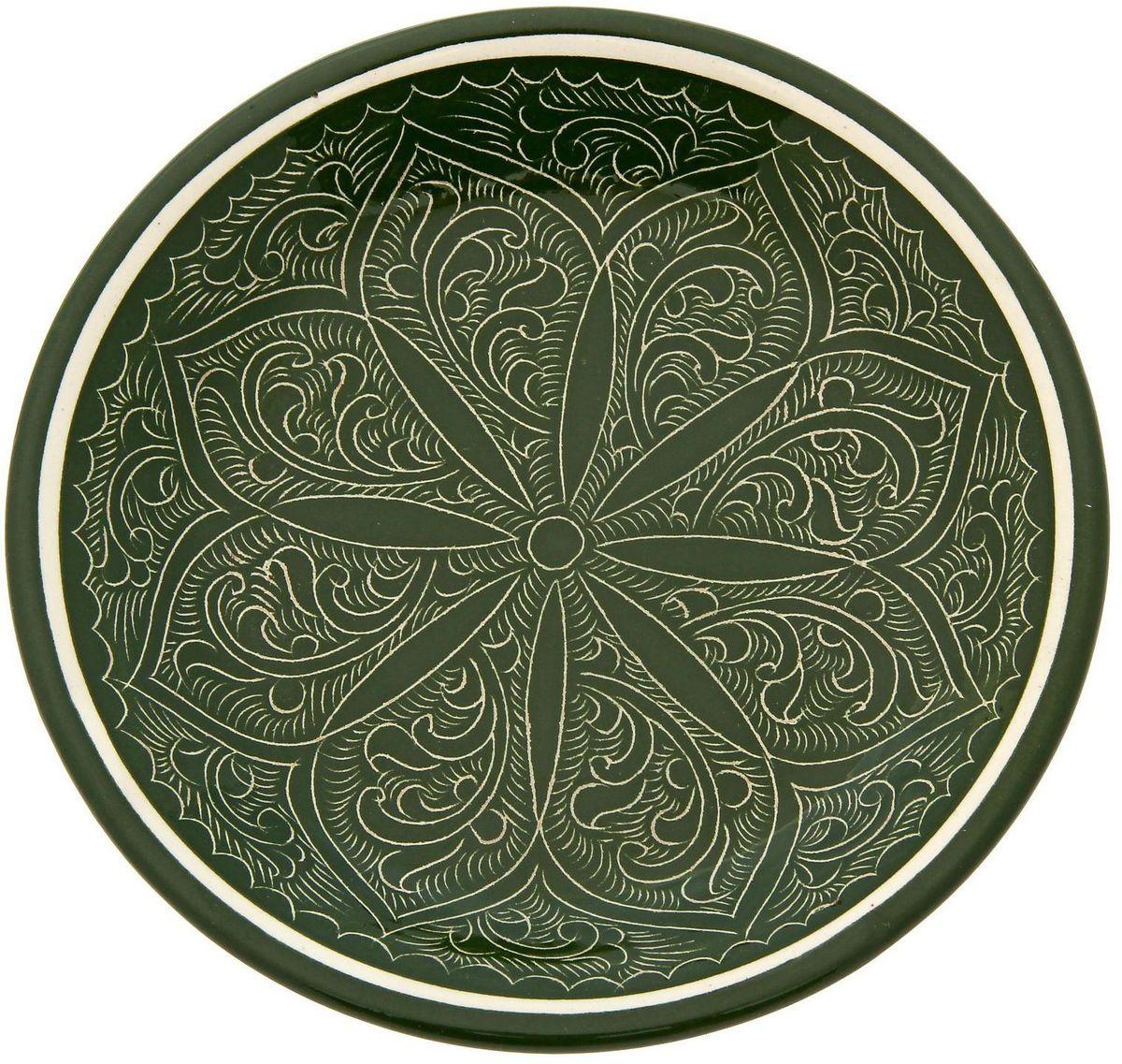 Тарелка Риштанская керамика, диаметр 15,5 см1923445Тарелка Риштанская керамика - это не просто обеденный атрибут, это украшение стола. Посуда с национальной росписью станет отменным подарком для ценителей высокородной посуды.Узбекская посуда известна всему миру уже более тысячи лет. Ей любовались царские особы, на ней подавали еду шейхам и знатным персонам. Формула глазури передаётся из поколения в поколение. По сей день качественные изделия продолжают восхищать своей идеальной формой. Тарелка подойдёт для повседневной и праздничной сервировки. Дополните стол текстилем и салфетками в тон, чтобы получить элегантное убранство с яркими акцентами.