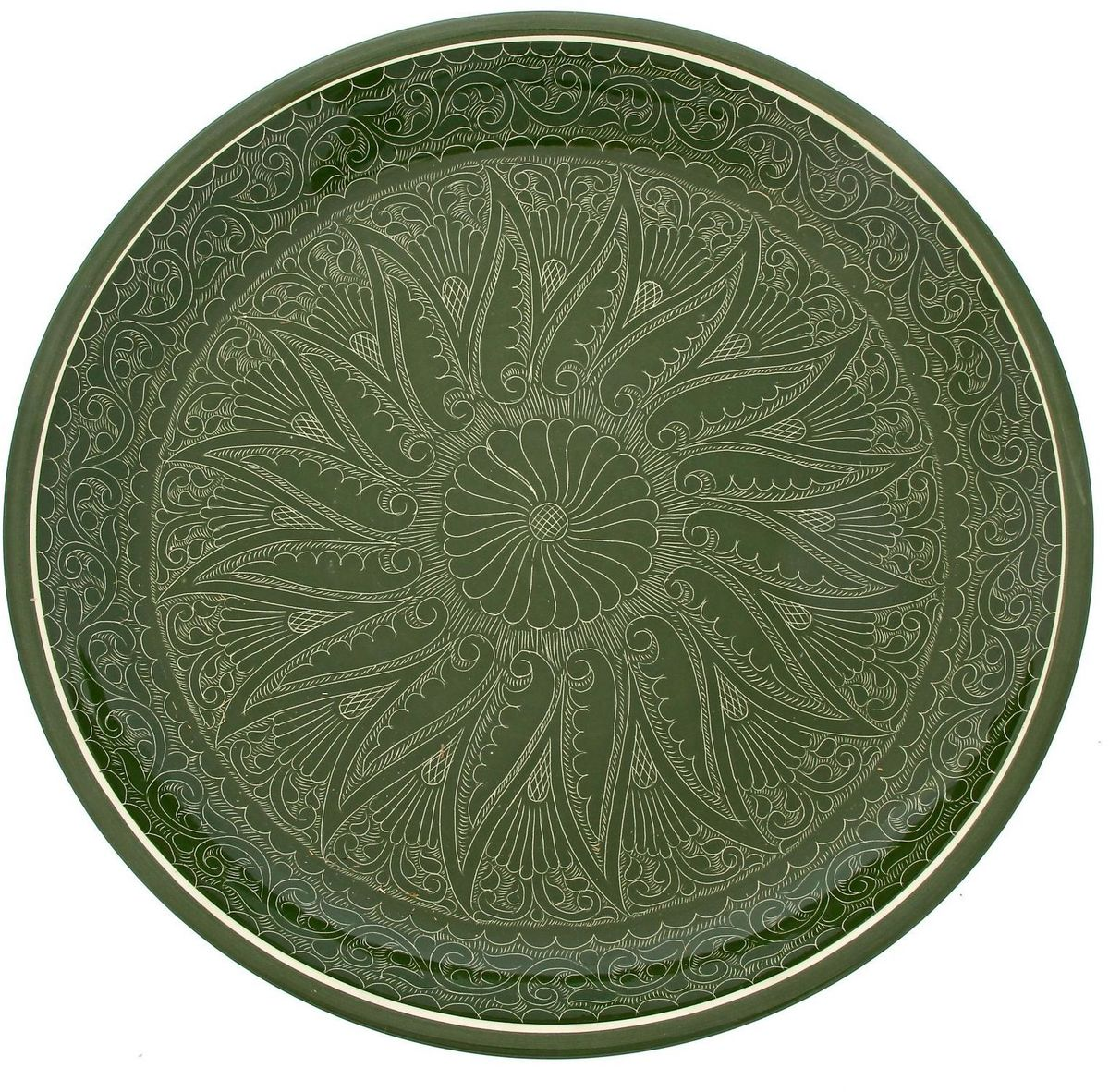 Ляган Риштанская керамика, диаметр 36 см. 19234551923455Ляган — это не просто обеденный атрибут, это украшение стола. Посуда с национальной росписью станет отменным подарком для ценителей высокородной посуды.Риштан — город на востоке Узбекистана, один из древнейших в Ферганской долине. С давних времён Риштан славится своим гончарным искусством изготовления цветной керамики. Красноватую глину для изделия добывают в самом городе. Мастера утверждают, что их глина настолько высокого качества, что даже не нуждается в предварительной обработке. Дополните коллекцию кухонных аксессуаров пряными восточными нотами.