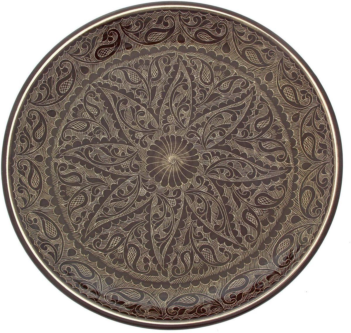 Ляган Риштанская керамика, диаметр 36 см. 19234561923456Ляган — это не просто обеденный атрибут, это украшение стола. Посуда с национальной росписью станет отменным подарком для ценителей высокородной посуды.Риштан — город на востоке Узбекистана, один из древнейших в Ферганской долине. С давних времён Риштан славится своим гончарным искусством изготовления цветной керамики. Красноватую глину для изделия добывают в самом городе. Мастера утверждают, что их глина настолько высокого качества, что даже не нуждается в предварительной обработке. Дополните коллекцию кухонных аксессуаров пряными восточными нотами.