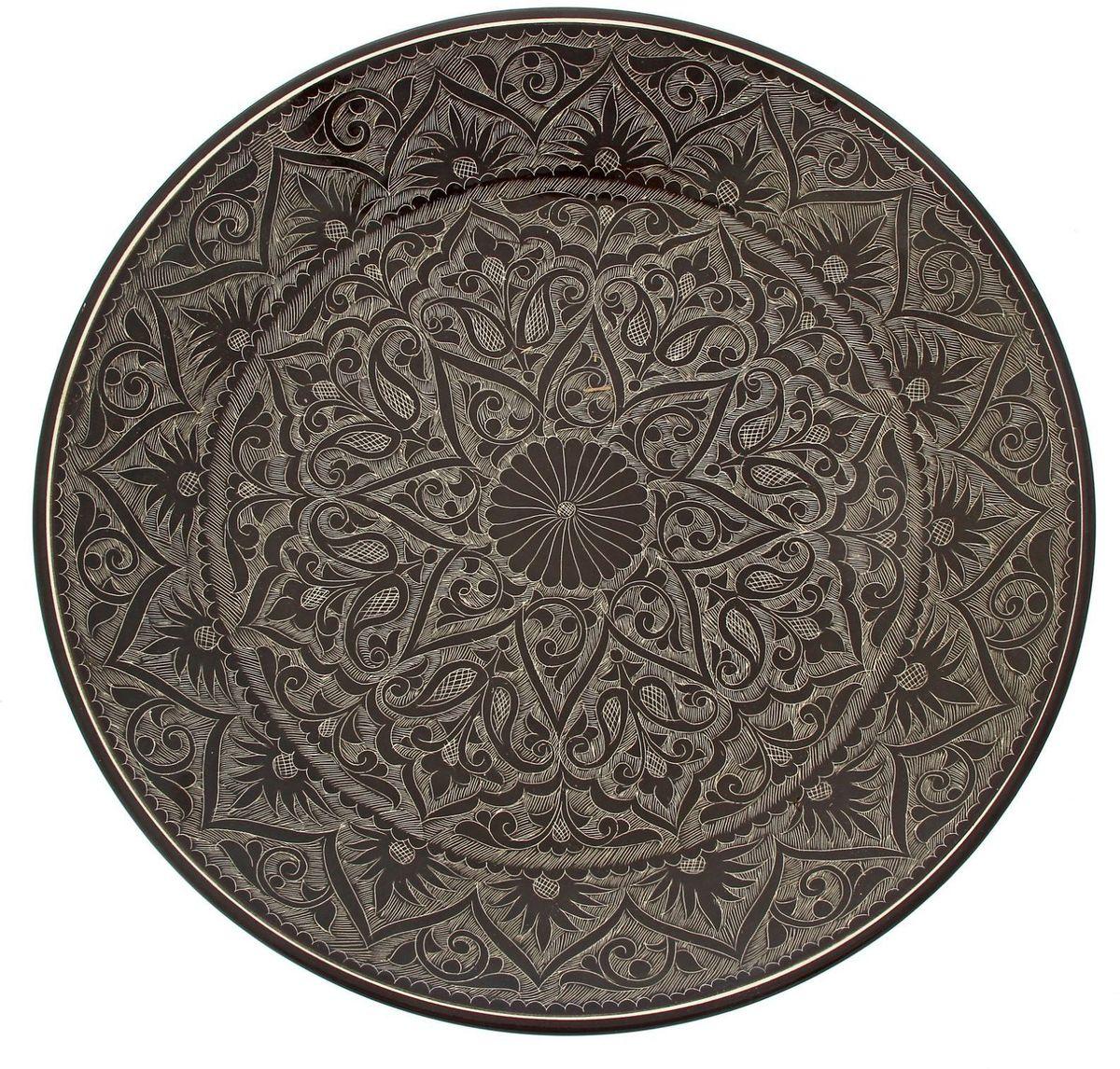 Ляган Риштанская керамика, диаметр 41 см. 19234571923457Ляган — это не просто обеденный атрибут, это украшение стола. Посуда с национальной росписью станет отменным подарком для ценителей высокородной посуды.Риштан — город на востоке Узбекистана, один из древнейших в Ферганской долине. С давних времён Риштан славится своим гончарным искусством изготовления цветной керамики. Красноватую глину для изделия добывают в самом городе. Мастера утверждают, что их глина настолько высокого качества, что даже не нуждается в предварительной обработке. Дополните коллекцию кухонных аксессуаров пряными восточными нотами.