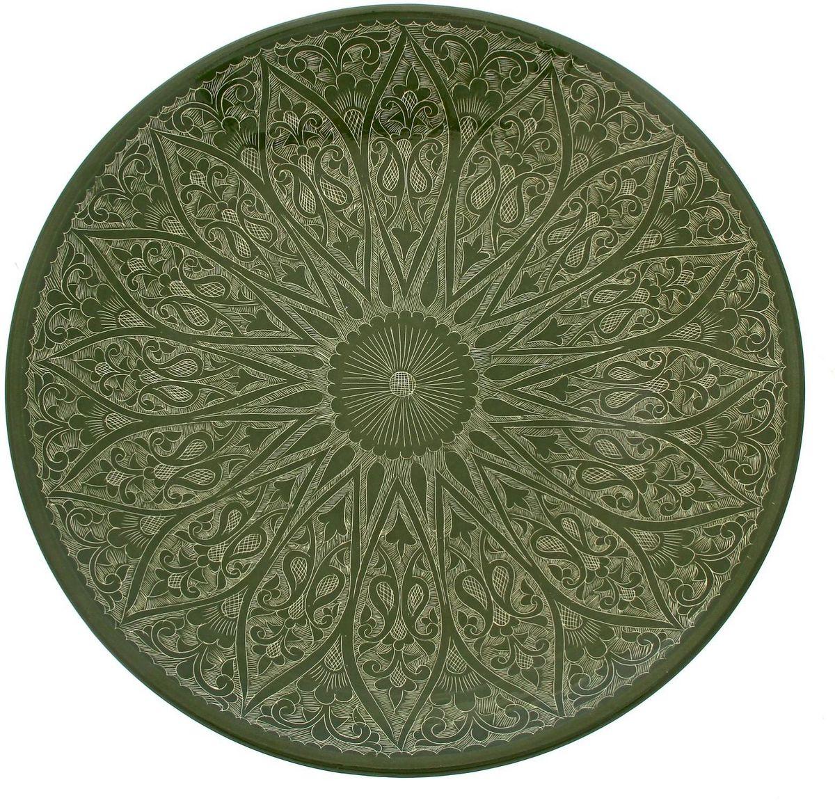 Ляган Риштанская керамика, диаметр 41 см. 19234581923458Ляган — это не просто обеденный атрибут, это украшение стола. Посуда с национальной росписью станет отменным подарком для ценителей высокородной посуды.Риштан — город на востоке Узбекистана, один из древнейших в Ферганской долине. С давних времён Риштан славится своим гончарным искусством изготовления цветной керамики. Красноватую глину для изделия добывают в самом городе. Мастера утверждают, что их глина настолько высокого качества, что даже не нуждается в предварительной обработке. Дополните коллекцию кухонных аксессуаров пряными восточными нотами.