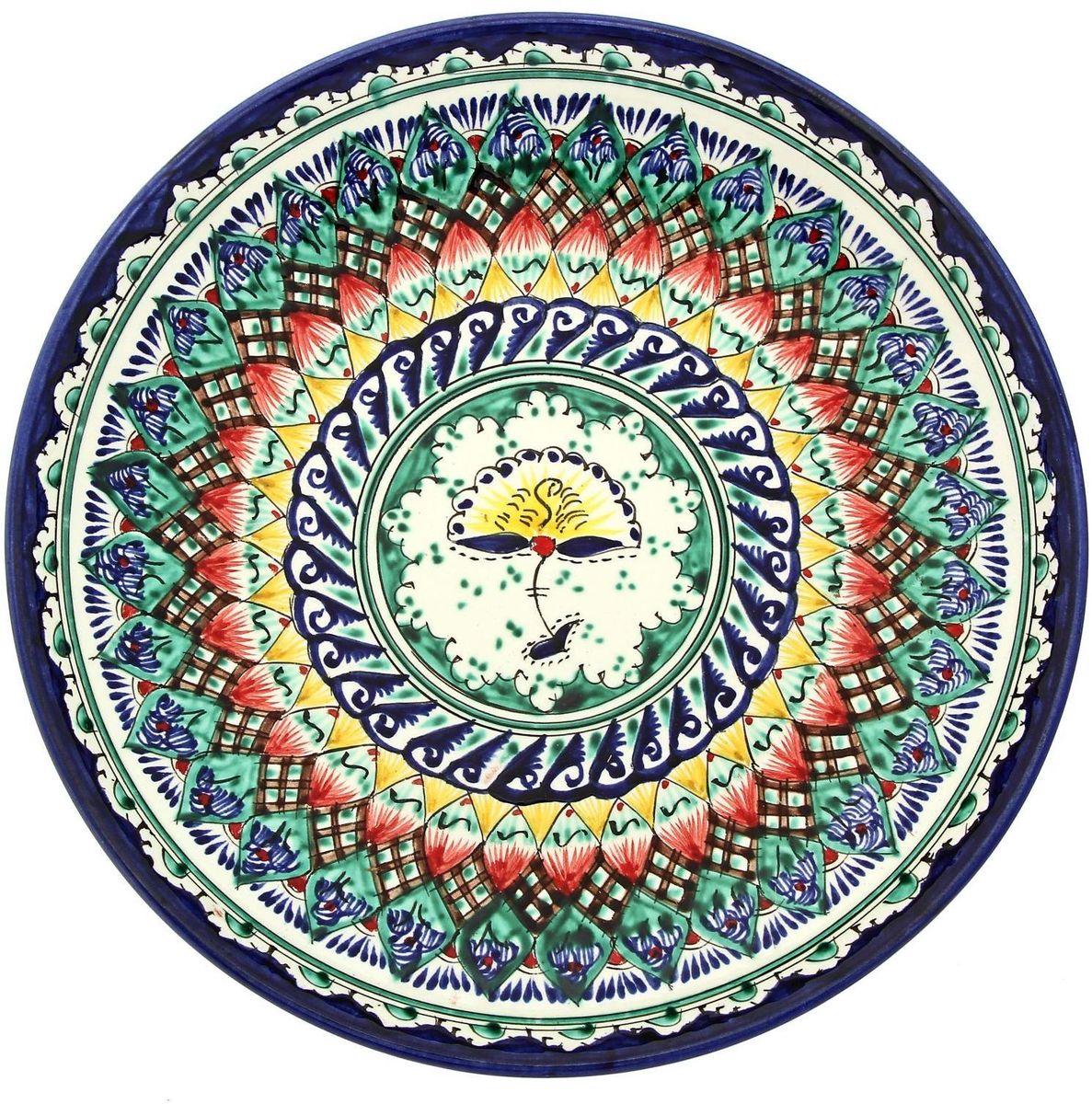 Ляган Риштанская керамика, диаметр 28 см. 19234601923460Ляган — это не просто обеденный атрибут, это украшение стола. Посуда с национальной росписью станет отменным подарком для ценителей высокородной посуды.Риштан — город на востоке Узбекистана, один из древнейших в Ферганской долине. С давних времён Риштан славится своим гончарным искусством изготовления цветной керамики. Красноватую глину для изделия добывают в самом городе. Мастера утверждают, что их глина настолько высокого качества, что даже не нуждается в предварительной обработке. Дополните коллекцию кухонных аксессуаров пряными восточными нотами.
