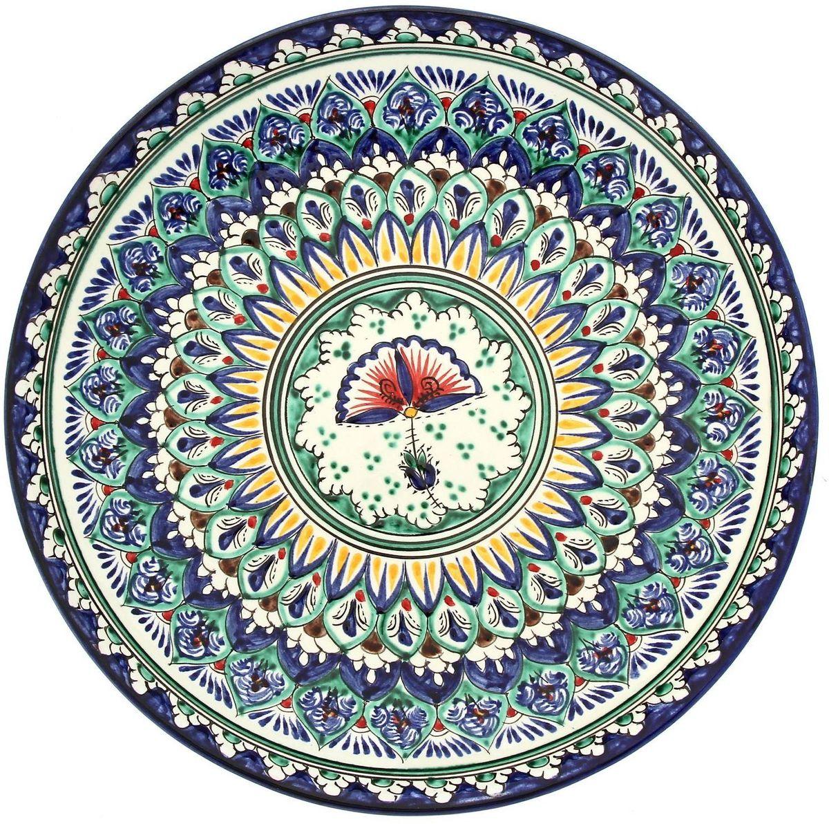 Ляган Риштанская керамика, диаметр 28 см. 19234621923462Ляган — это не просто обеденный атрибут, это украшение стола. Посуда с национальной росписью станет отменным подарком для ценителей высокородной посуды.Риштан — город на востоке Узбекистана, один из древнейших в Ферганской долине. С давних времён Риштан славится своим гончарным искусством изготовления цветной керамики. Красноватую глину для изделия добывают в самом городе. Мастера утверждают, что их глина настолько высокого качества, что даже не нуждается в предварительной обработке. Дополните коллекцию кухонных аксессуаров пряными восточными нотами.