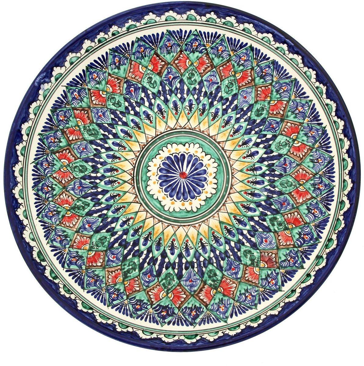 Ляган Риштанская керамика, диаметр 31 см. 19234641923464Ляган Риштанская керамика - это не просто обеденный атрибут, это украшение стола. Посуда с национальной росписью станет отменным подарком для ценителей высокородной посуды. Риштан - город на востоке Узбекистана, один из древнейших в Ферганской долине. С давних времен Риштан славится своим гончарным искусством изготовления цветной керамики. Красноватую глину для изделия добывают в самом городе. Мастера утверждают, что их глина настолько высокого качества, что даже не нуждается в предварительной обработке. Дополните коллекцию кухонных аксессуаров пряными восточными нотами.