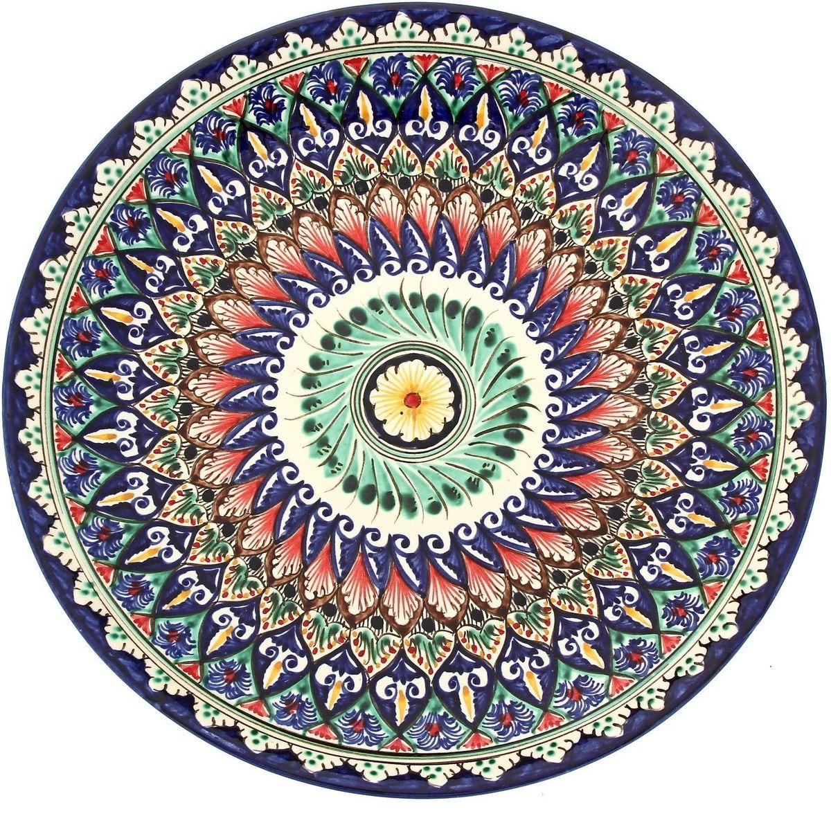 Ляган Риштанская керамика, диаметр 31 см. 19234651923465Ляган — это не просто обеденный атрибут, это украшение стола. Посуда с национальной росписью станет отменным подарком для ценителей высокородной посуды.Риштан — город на востоке Узбекистана, один из древнейших в Ферганской долине. С давних времён Риштан славится своим гончарным искусством изготовления цветной керамики. Красноватую глину для изделия добывают в самом городе. Мастера утверждают, что их глина настолько высокого качества, что даже не нуждается в предварительной обработке. Дополните коллекцию кухонных аксессуаров пряными восточными нотами.