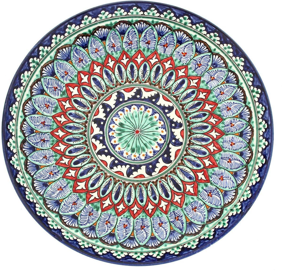 Ляган Риштанская керамика, диаметр 31 см. 19234661923466Ляган — это не просто обеденный атрибут, это украшение стола. Посуда с национальной росписью станет отменным подарком для ценителей высокородной посуды.Риштан — город на востоке Узбекистана, один из древнейших в Ферганской долине. С давних времён Риштан славится своим гончарным искусством изготовления цветной керамики. Красноватую глину для изделия добывают в самом городе. Мастера утверждают, что их глина настолько высокого качества, что даже не нуждается в предварительной обработке. Дополните коллекцию кухонных аксессуаров пряными восточными нотами.