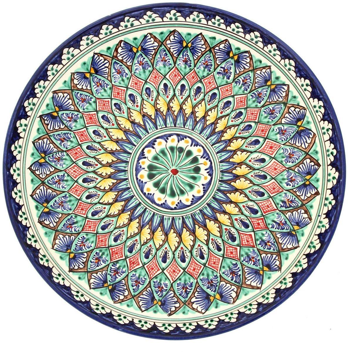 Ляган Риштанская керамика, диаметр 31 см. 19234671923467Ляган — это не просто обеденный атрибут, это украшение стола. Посуда с национальной росписью станет отменным подарком для ценителей высокородной посуды.Риштан — город на востоке Узбекистана, один из древнейших в Ферганской долине. С давних времён Риштан славится своим гончарным искусством изготовления цветной керамики. Красноватую глину для изделия добывают в самом городе. Мастера утверждают, что их глина настолько высокого качества, что даже не нуждается в предварительной обработке. Дополните коллекцию кухонных аксессуаров пряными восточными нотами.