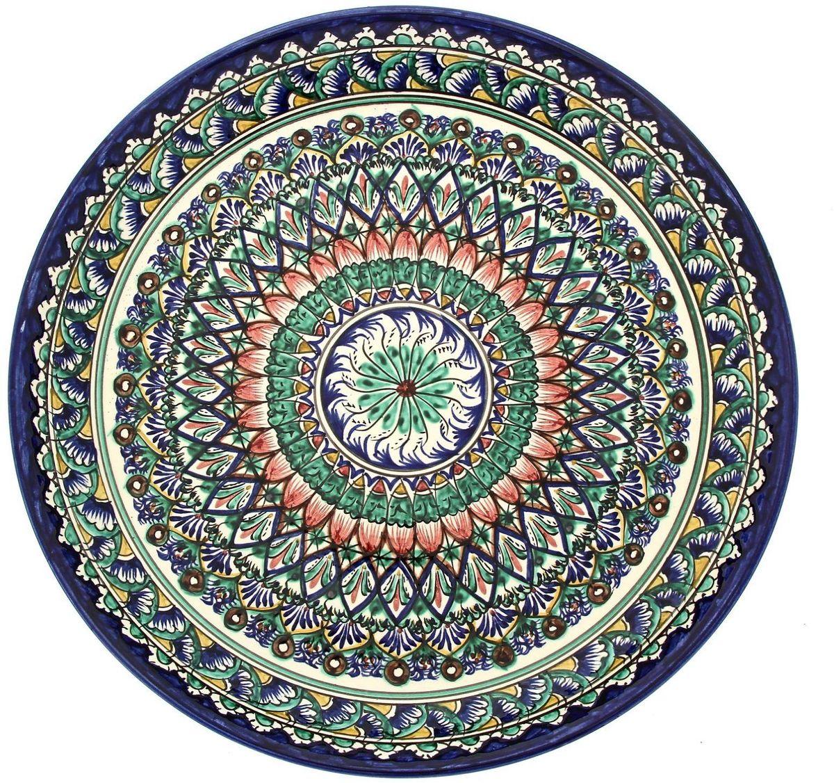 Ляган Риштанская керамика, диаметр 36 см. 19234691923469Ляган — это не просто обеденный атрибут, это украшение стола. Посуда с национальной росписью станет отменным подарком для ценителей высокородной посуды.Риштан — город на востоке Узбекистана, один из древнейших в Ферганской долине. С давних времён Риштан славится своим гончарным искусством изготовления цветной керамики. Красноватую глину для изделия добывают в самом городе. Мастера утверждают, что их глина настолько высокого качества, что даже не нуждается в предварительной обработке. Дополните коллекцию кухонных аксессуаров пряными восточными нотами.