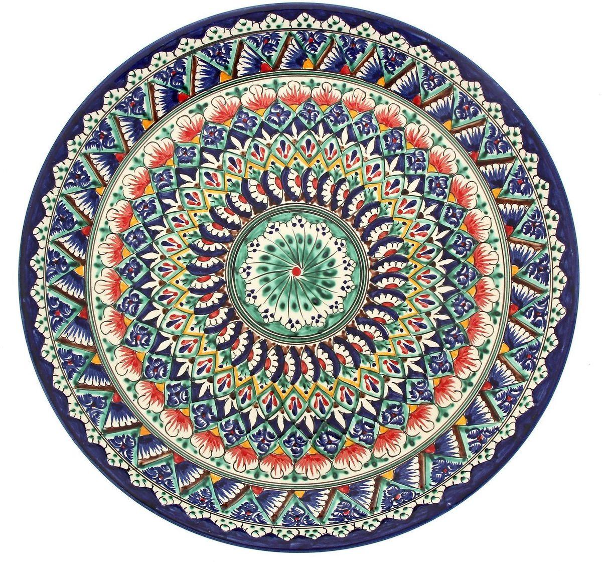 Ляган Риштанская керамика, диаметр 36 см. 19234701923470Ляган — это не просто обеденный атрибут, это украшение стола. Посуда с национальной росписью станет отменным подарком для ценителей высокородной посуды.Риштан — город на востоке Узбекистана, один из древнейших в Ферганской долине. С давних времён Риштан славится своим гончарным искусством изготовления цветной керамики. Красноватую глину для изделия добывают в самом городе. Мастера утверждают, что их глина настолько высокого качества, что даже не нуждается в предварительной обработке. Дополните коллекцию кухонных аксессуаров пряными восточными нотами.