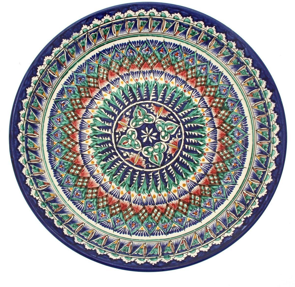 Ляган Риштанская керамика, диаметр 41 см. 19234731923473Ляган Риштанская керамика - это не просто обеденный атрибут, это украшение стола. Посуда с национальной росписью станет отменным подарком для ценителей высокородной посуды.Риштан - город на востоке Узбекистана, один из древнейших в Ферганской долине. С давних времен Риштан славится своим гончарным искусством изготовления цветной керамики. Красноватую глину для изделия добывают в самом городе. Мастера утверждают, что их глина настолько высокого качества, что даже не нуждается в предварительной обработке. Дополните коллекцию кухонных аксессуаров пряными восточными нотами!