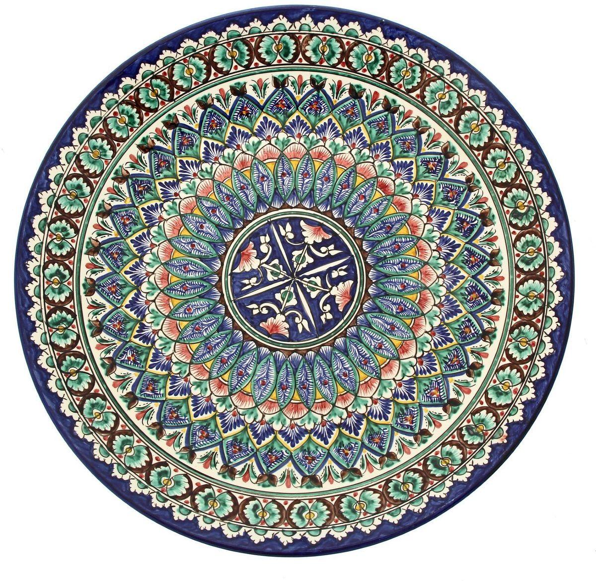 Ляган Риштанская керамика, диаметр 41 см. 19234761923476Ляган Риштанская керамика - это не просто обеденный атрибут, это украшение стола. Посуда с национальной росписью станет отменным подарком для ценителей высокородной посуды.Риштан - город на востоке Узбекистана, один из древнейших в Ферганской долине. С давних времен Риштан славится своим гончарным искусством изготовления цветной керамики. Красноватую глину для изделия добывают в самом городе. Мастера утверждают, что их глина настолько высокого качества, что даже не нуждается в предварительной обработке. Дополните коллекцию кухонных аксессуаров пряными восточными нотами!
