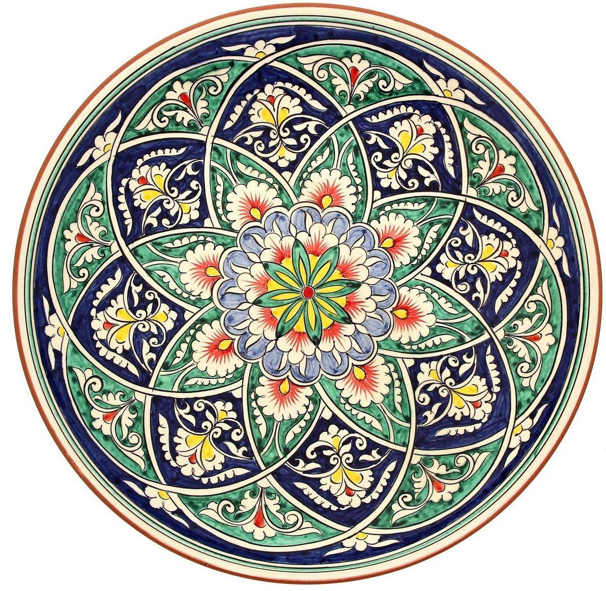 Ляган - это не просто обеденный атрибут, это украшение стола. Посуда с национальной росписью станет отменным подарком для ценителей высокородной посуды.  Риштан - город на востоке Узбекистана, один из древнейших в Ферганской долине. С давних времён Риштан славится своим гончарным искусством изготовления цветной керамики. Красноватую глину для изделия добывают в самом городе. Мастера утверждают, что их глина настолько высокого качества, что даже не нуждается в предварительной обработке. Дополните коллекцию кухонных аксессуаров пряными восточными нотами.