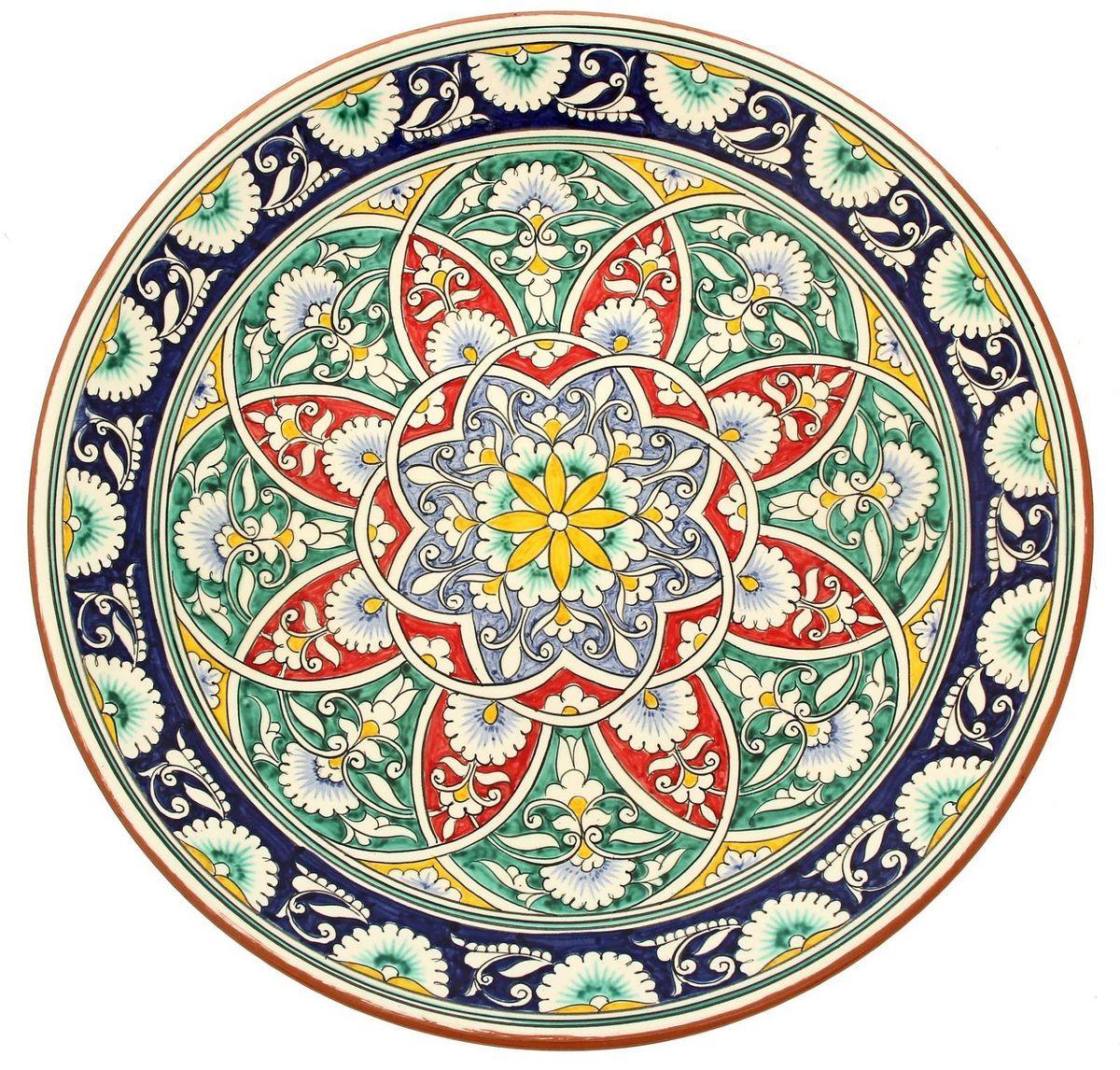 Ляган Риштанская керамика, диаметр 41 см. 19234801923480Ляган — это не просто обеденный атрибут, это украшение стола. Посуда с национальной росписью станет отменным подарком для ценителей высокородной посуды.Риштан — город на востоке Узбекистана, один из древнейших в Ферганской долине. С давних времён Риштан славится своим гончарным искусством изготовления цветной керамики. Красноватую глину для изделия добывают в самом городе. Мастера утверждают, что их глина настолько высокого качества, что даже не нуждается в предварительной обработке. Дополните коллекцию кухонных аксессуаров пряными восточными нотами.