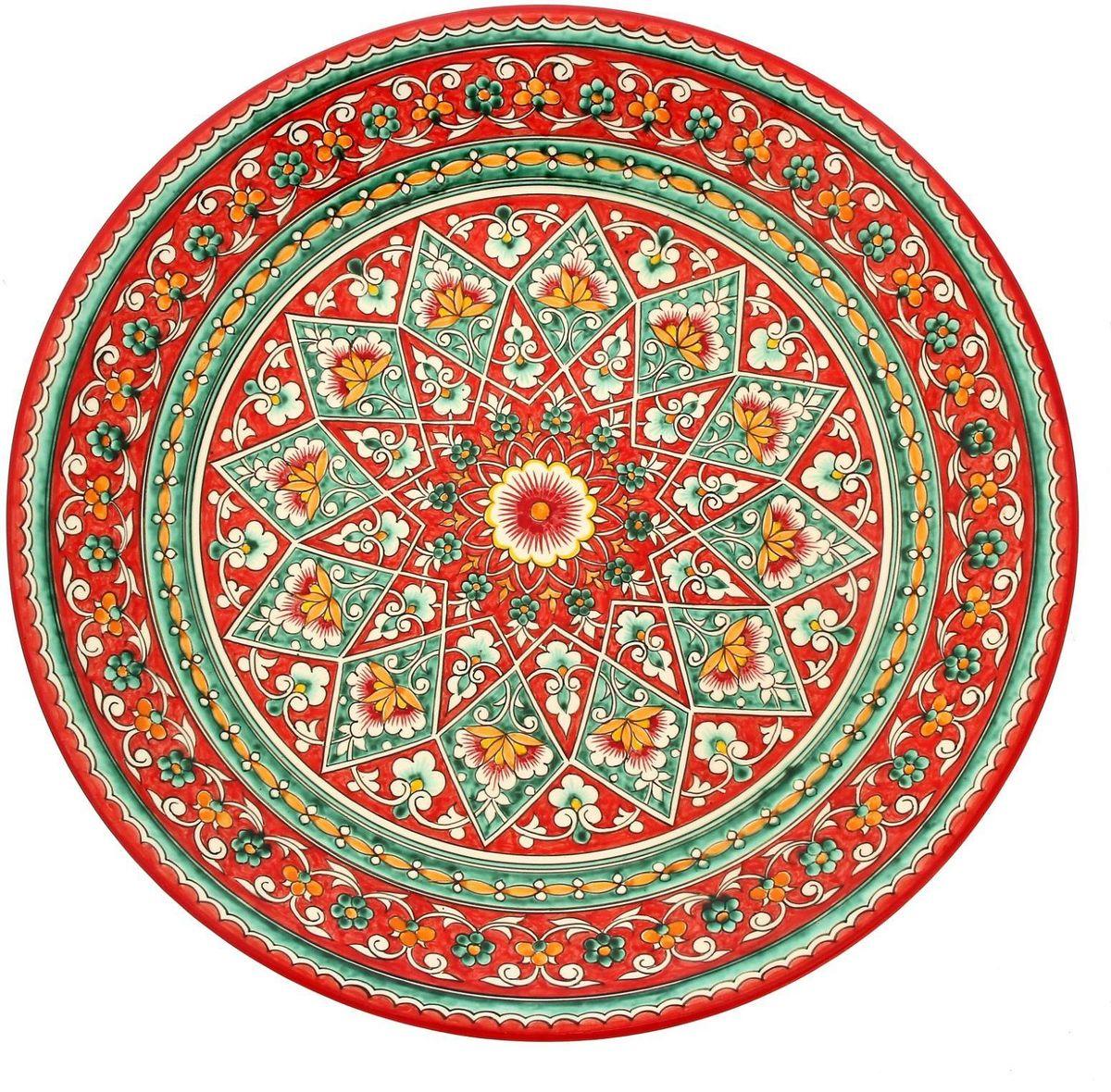 Ляган Риштанская керамика, диаметр 41 см. 19242471924247Ляган — это не просто обеденный атрибут, это украшение стола. Посуда с национальной росписью станет отменным подарком для ценителей высокородной посуды.Риштан — город на востоке Узбекистана, один из древнейших в Ферганской долине. С давних времён Риштан славится своим гончарным искусством изготовления цветной керамики. Красноватую глину для изделия добывают в самом городе. Мастера утверждают, что их глина настолько высокого качества, что даже не нуждается в предварительной обработке. Дополните коллекцию кухонных аксессуаров пряными восточными нотами.