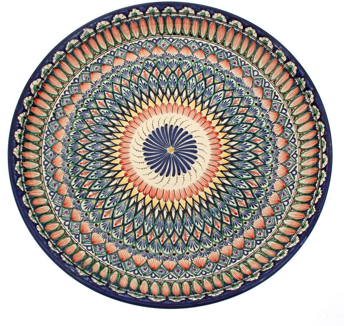 Ляган Риштанская керамика, диаметр 46 см. 19242481924248Ляган — это не просто обеденный атрибут, это украшение стола. Посуда с национальной росписью станет отменным подарком для ценителей высокородной посуды.Риштан — город на востоке Узбекистана, один из древнейших в Ферганской долине. С давних времён Риштан славится своим гончарным искусством изготовления цветной керамики. Красноватую глину для изделия добывают в самом городе. Мастера утверждают, что их глина настолько высокого качества, что даже не нуждается в предварительной обработке. Дополните коллекцию кухонных аксессуаров пряными восточными нотами.