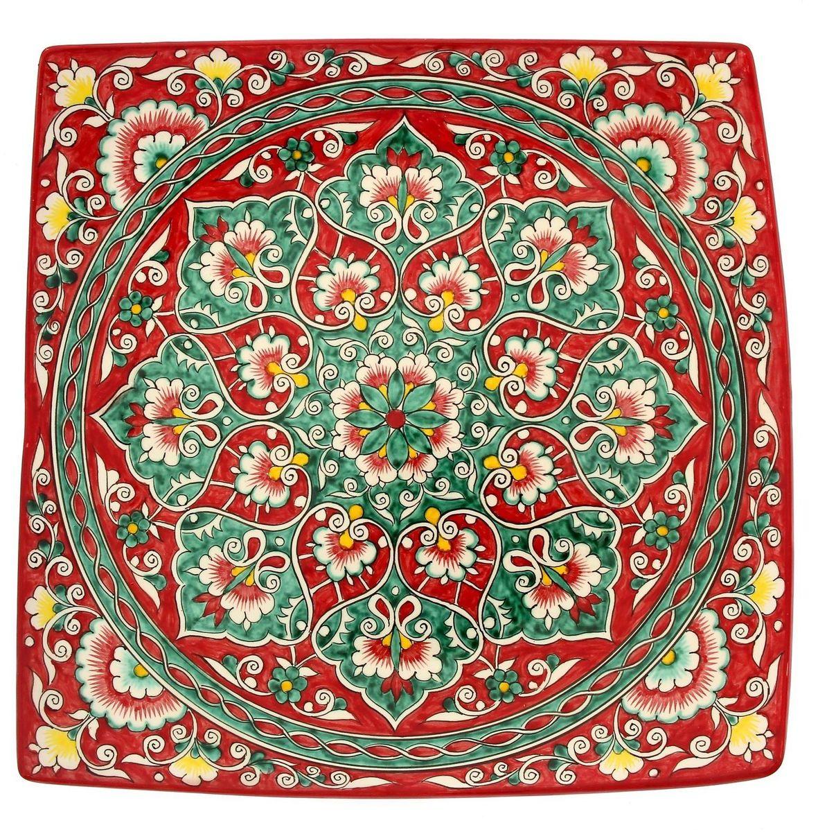 Ляган Риштанская керамика, 41 х 41 см. 19242511924251Ляган — это не просто обеденный атрибут, это украшение стола. Посуда с национальной росписью станет отменным подарком для ценителей высокородной посуды.Риштан — город на востоке Узбекистана, один из древнейших в Ферганской долине. С давних времён Риштан славится своим гончарным искусством изготовления цветной керамики. Красноватую глину для изделия добывают в самом городе. Мастера утверждают, что их глина настолько высокого качества, что даже не нуждается в предварительной обработке. Дополните коллекцию кухонных аксессуаров пряными восточными нотами.