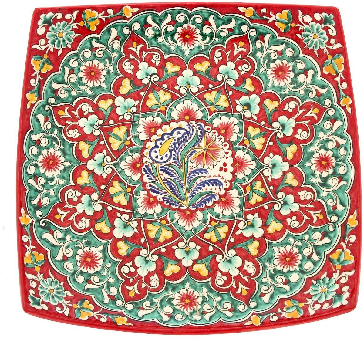 Ляган Риштанская керамика, диаметр 41 см. 19242521924252Ляган — это не просто обеденный атрибут, это украшение стола. Посуда с национальной росписью станет отменным подарком для ценителей высокородной посуды.Риштан — город на востоке Узбекистана, один из древнейших в Ферганской долине. С давних времён Риштан славится своим гончарным искусством изготовления цветной керамики. Красноватую глину для изделия добывают в самом городе. Мастера утверждают, что их глина настолько высокого качества, что даже не нуждается в предварительной обработке. Дополните коллекцию кухонных аксессуаров пряными восточными нотами.