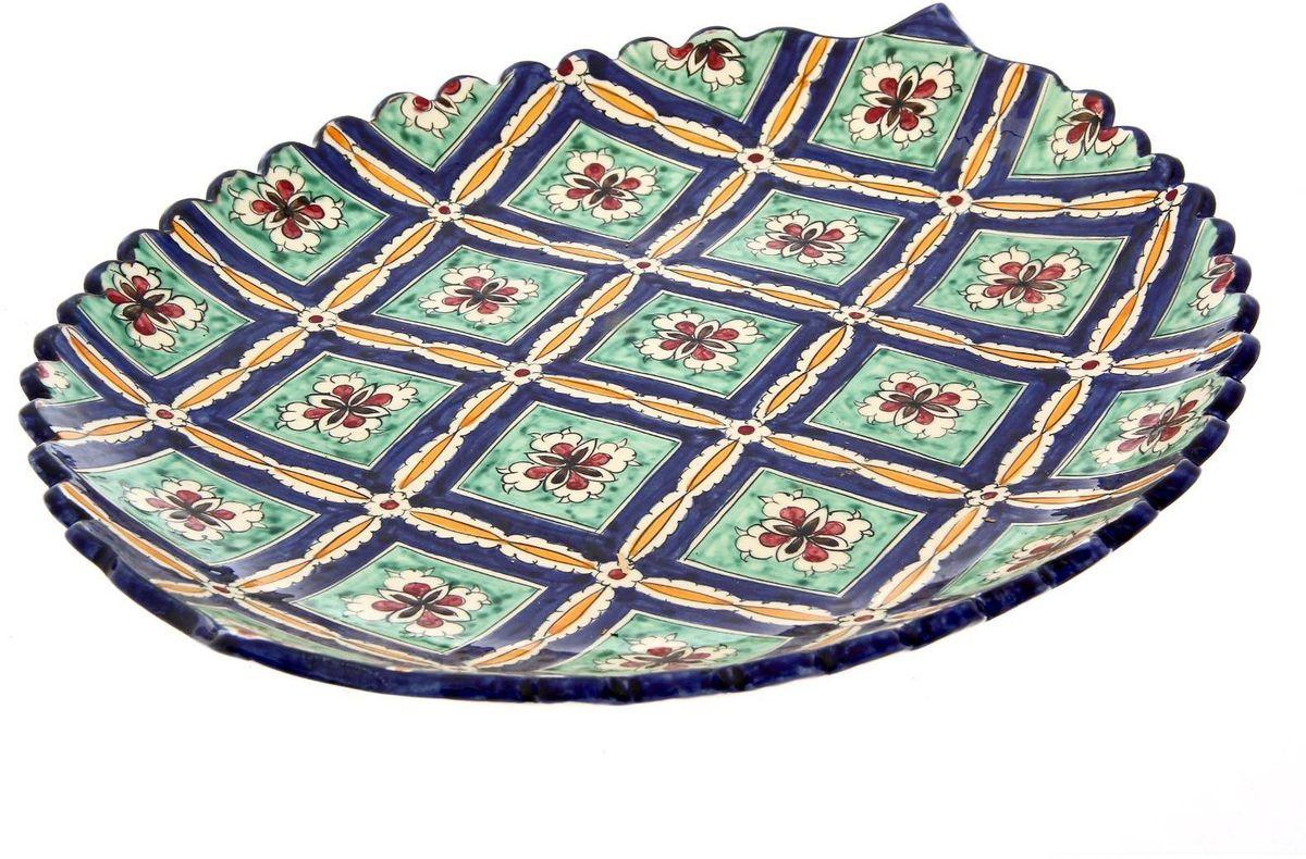 Ляган Риштанская керамика, диаметр 41 см. 19242661924266Ляган — это не просто обеденный атрибут, это украшение стола. Посуда с национальной росписью станет отменным подарком для ценителей высокородной посуды.Риштан — город на востоке Узбекистана, один из древнейших в Ферганской долине. С давних времён Риштан славится своим гончарным искусством изготовления цветной керамики. Красноватую глину для изделия добывают в самом городе. Мастера утверждают, что их глина настолько высокого качества, что даже не нуждается в предварительной обработке. Дополните коллекцию кухонных аксессуаров пряными восточными нотами.