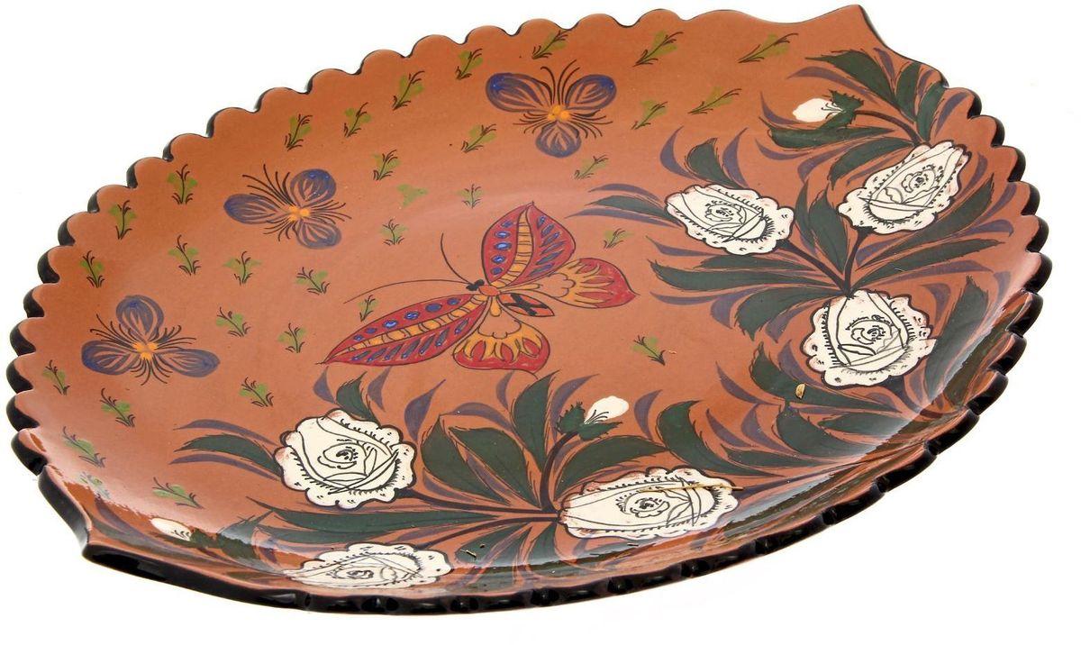 Ляган Риштанская керамика Весна, 41 х 34 см1924275Ляган — это не просто обеденный атрибут, это украшение стола. Посуда с национальной росписью станет отменным подарком для ценителей высокородной посуды.Риштан — город на востоке Узбекистана, один из древнейших в Ферганской долине. С давних времён Риштан славится своим гончарным искусством изготовления цветной керамики. Красноватую глину для изделия добывают в самом городе. Мастера утверждают, что их глина настолько высокого качества, что даже не нуждается в предварительной обработке. Дополните коллекцию кухонных аксессуаров пряными восточными нотами.