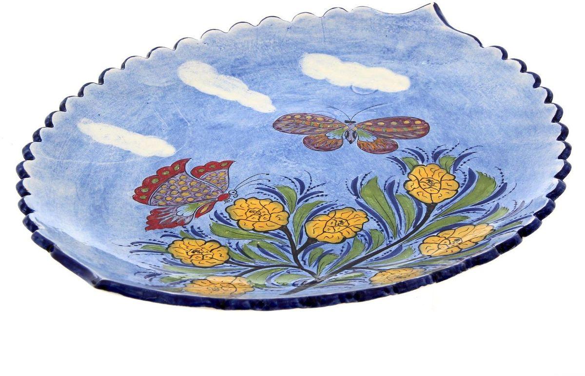 Ляган Риштанская керамика, диаметр 41 см. 19242781924278Ляган — это не просто обеденный атрибут, это украшение стола. Посуда с национальной росписью станет отменным подарком для ценителей высокородной посуды.Риштан — город на востоке Узбекистана, один из древнейших в Ферганской долине. С давних времён Риштан славится своим гончарным искусством изготовления цветной керамики. Красноватую глину для изделия добывают в самом городе. Мастера утверждают, что их глина настолько высокого качества, что даже не нуждается в предварительной обработке. Дополните коллекцию кухонных аксессуаров пряными восточными нотами.