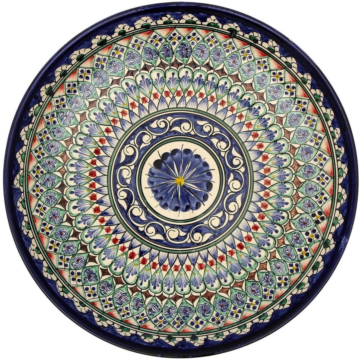 Ляган Риштанская керамика, диаметр, 32 см. 21387002138700Ляган — это не просто обеденный атрибут, это украшение стола. Посуда с национальной росписью станет отменным подарком для ценителей высокородной посуды.Риштан — город на востоке Узбекистана, один из древнейших в Ферганской долине. С давних времён Риштан славится своим гончарным искусством изготовления цветной керамики. Красноватую глину для изделия добывают в самом городе. Мастера утверждают, что их глина настолько высокого качества, что даже не нуждается в предварительной обработке. Дополните коллекцию кухонных аксессуаров пряными восточными нотами.