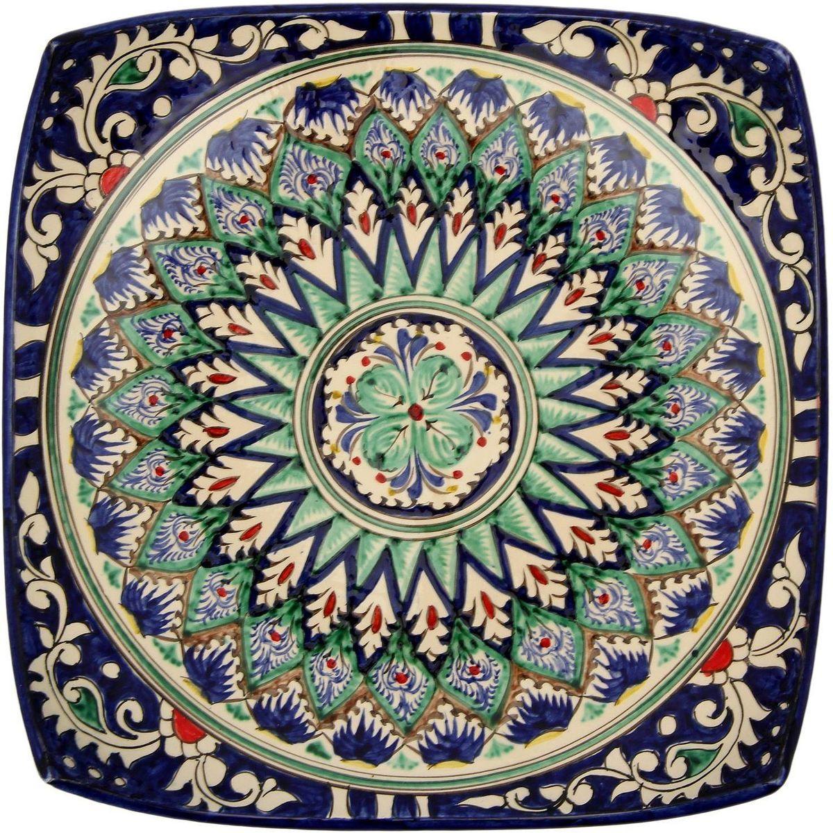 Ляган Риштанская керамика, 31 х 31 см. 21387022138702Ляган — это не просто обеденный атрибут, это украшение стола. Посуда с национальной росписью станет отменным подарком для ценителей высокородной посуды.Риштан — город на востоке Узбекистана, один из древнейших в Ферганской долине. С давних времён Риштан славится своим гончарным искусством изготовления цветной керамики. Красноватую глину для изделия добывают в самом городе. Мастера утверждают, что их глина настолько высокого качества, что даже не нуждается в предварительной обработке. Дополните коллекцию кухонных аксессуаров пряными восточными нотами.