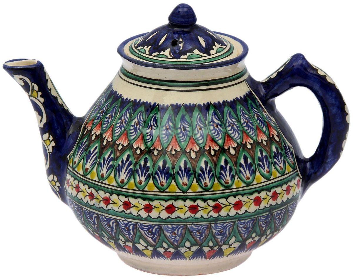 Чайник заварочный Риштанская керамика, 2 л. 21387142138714Узбекская посуда известна всему миру уже более тысячи лет. Ей любовались царские особы, на ней подавали еду шейхам и знатным персонам. Формула глазури передаётся из поколения в поколение. По сей день качественные изделия продолжают восхищать своей идеальной формой.Данный предмет подойдёт для повседневной и праздничной сервировки. Дополните стол текстилем и салфетками в тон, чтобы получить элегантное убранство с яркими акцентами.