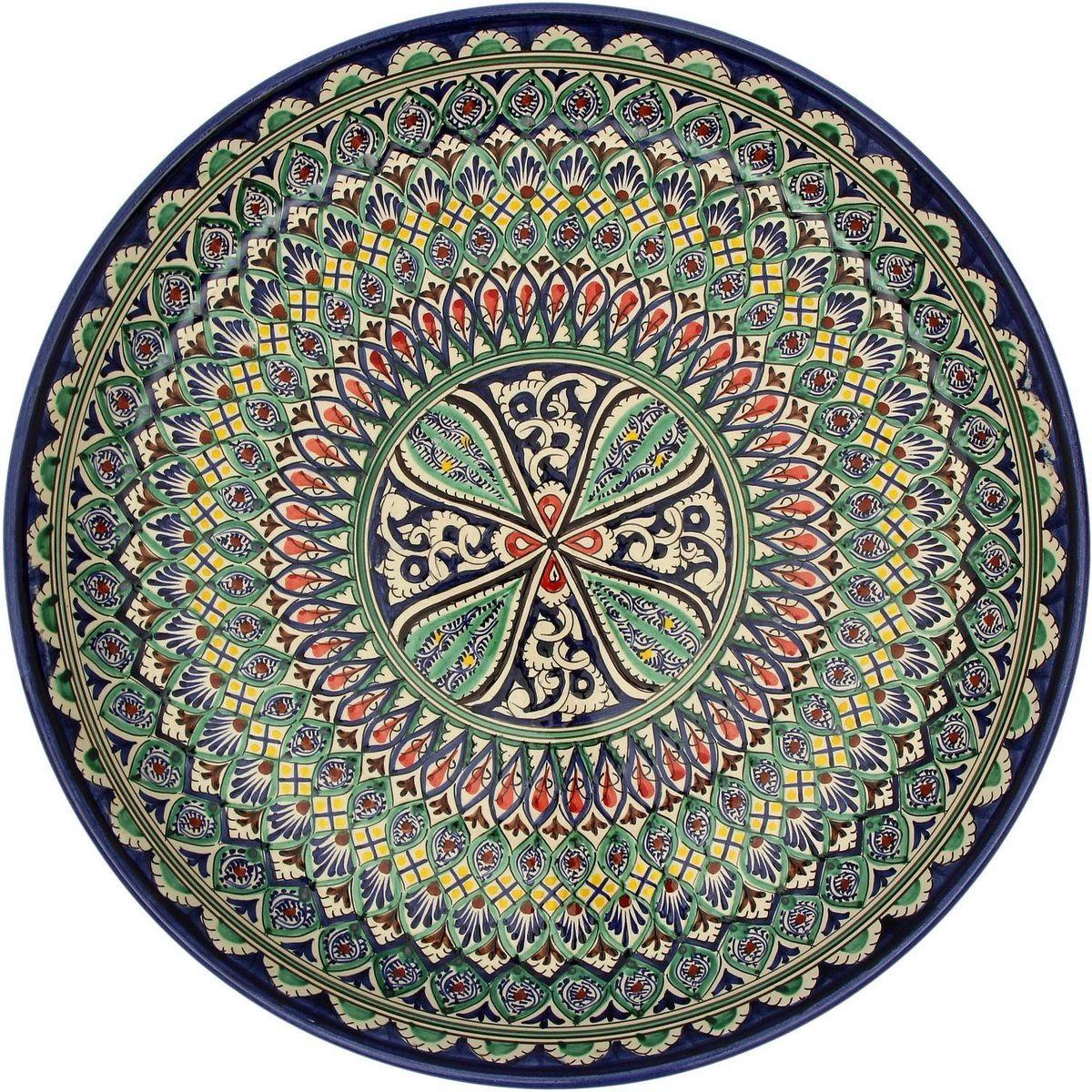 Ляган Риштанская керамика, диаметр, 45 см. 21550012155001Ляган — это не просто обеденный атрибут, это украшение стола. Посуда с национальной росписью станет отменным подарком для ценителей высокородной посуды.Риштан — город на востоке Узбекистана, один из древнейших в Ферганской долине. С давних времён Риштан славится своим гончарным искусством изготовления цветной керамики. Красноватую глину для изделия добывают в самом городе. Мастера утверждают, что их глина настолько высокого качества, что даже не нуждается в предварительной обработке. Дополните коллекцию кухонных аксессуаров пряными восточными нотами.