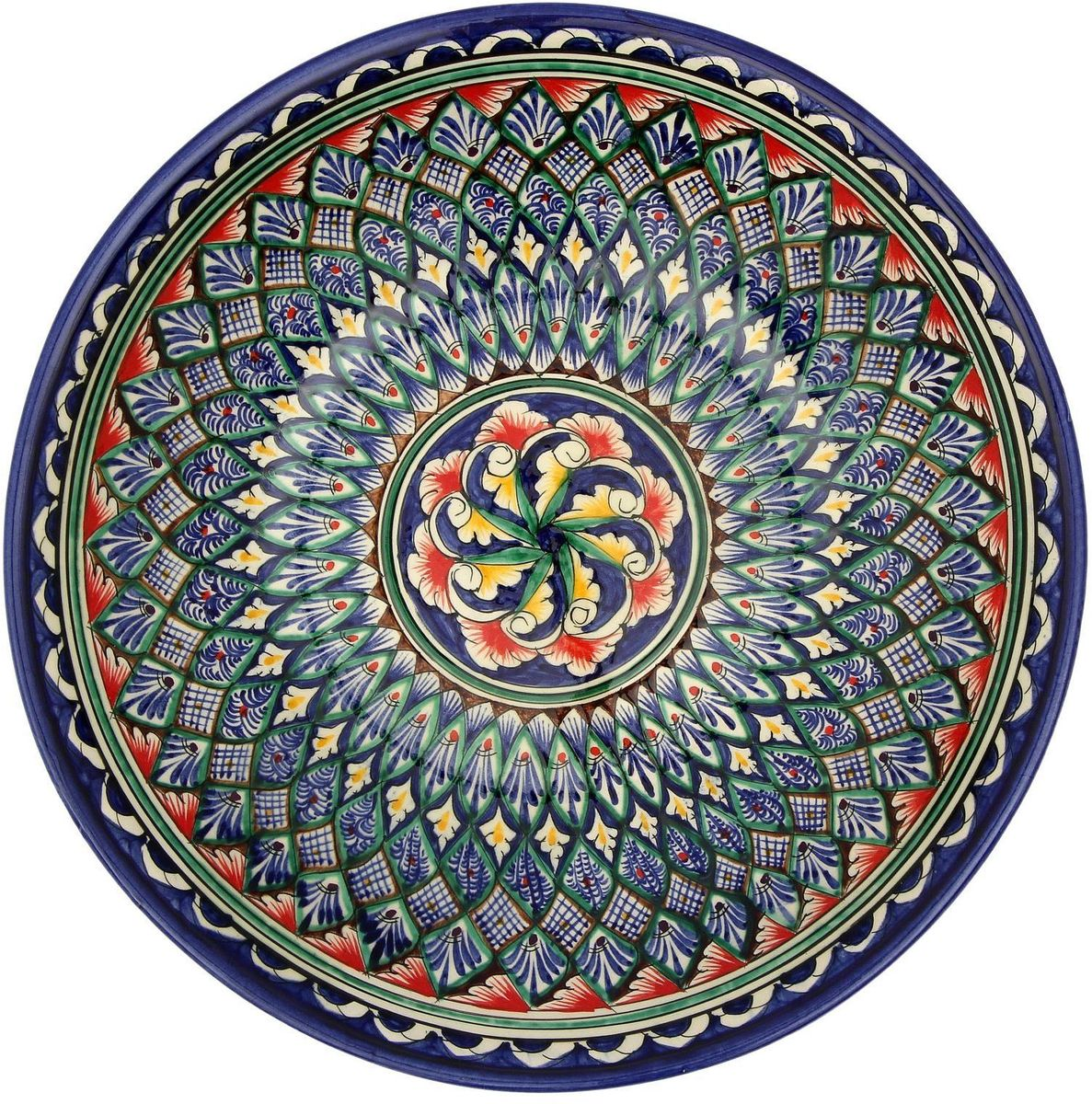 Ляган Риштанская керамика, диаметр, 33 см. 21560042156004Ляган — это не просто обеденный атрибут, это украшение стола. Посуда с национальной росписью станет отменным подарком для ценителей высокородной посуды.Риштан — город на востоке Узбекистана, один из древнейших в Ферганской долине. С давних времён Риштан славится своим гончарным искусством изготовления цветной керамики. Красноватую глину для изделия добывают в самом городе. Мастера утверждают, что их глина настолько высокого качества, что даже не нуждается в предварительной обработке. Дополните коллекцию кухонных аксессуаров пряными восточными нотами.