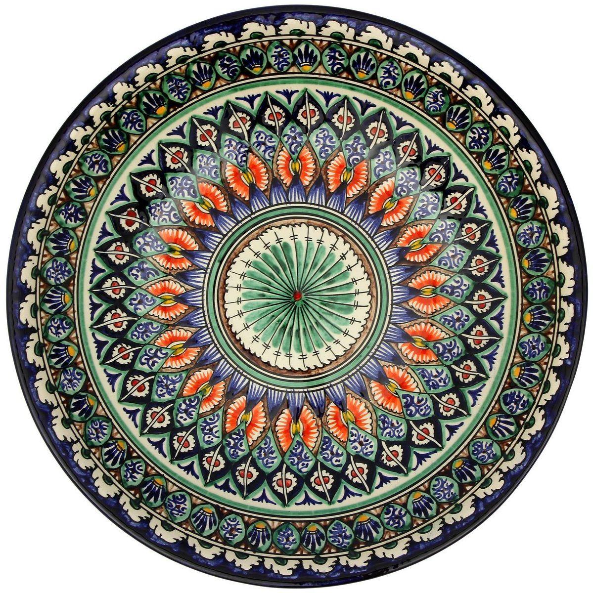 Ляган Риштанская керамика, диаметр, 33 см. 21560052156005Ляган — это не просто обеденный атрибут, это украшение стола. Посуда с национальной росписью станет отменным подарком для ценителей высокородной посуды.Риштан — город на востоке Узбекистана, один из древнейших в Ферганской долине. С давних времён Риштан славится своим гончарным искусством изготовления цветной керамики. Красноватую глину для изделия добывают в самом городе. Мастера утверждают, что их глина настолько высокого качества, что даже не нуждается в предварительной обработке. Дополните коллекцию кухонных аксессуаров пряными восточными нотами.