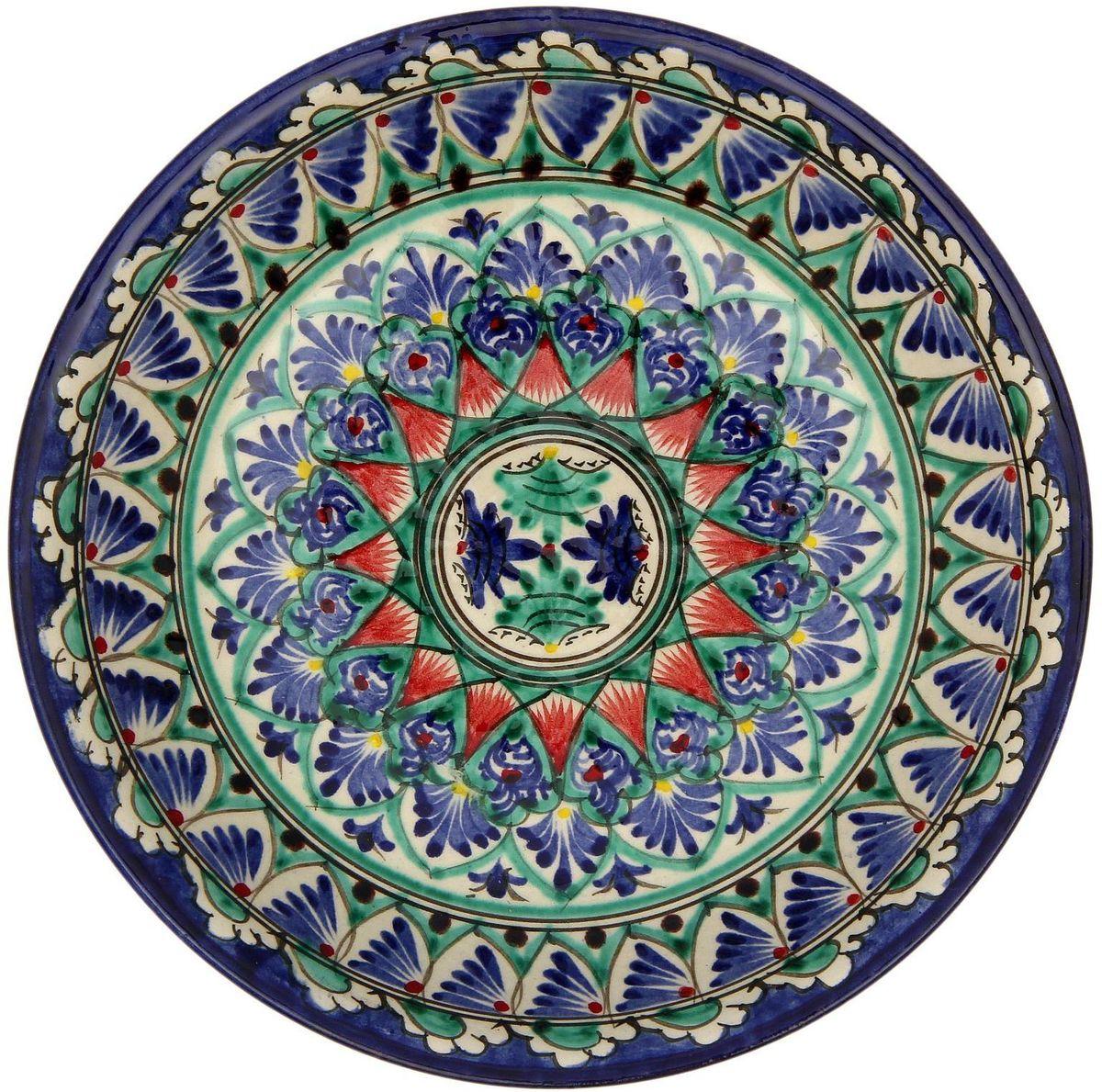 Тарелка Риштанская керамика, диаметр 19 см. 21580072158007Узбекская посуда известна всему миру уже более тысячи лет. Ей любовались царские особы, на ней подавали еду шейхам и знатным персонам. Формула глазури передаётся из поколения в поколение. По сей день качественные изделия продолжают восхищать своей идеальной формой.Данный предмет подойдёт для повседневной и праздничной сервировки. Дополните стол текстилем и салфетками в тон, чтобы получить элегантное убранство с яркими акцентами.